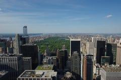 Weergeven van Manhattan van Rockefeller Centerdak royalty-vrije stock foto's
