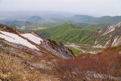 Weergeven van Onderstel Daisen in Tottori-Prefectuur, Japan stock afbeeldingen
