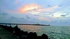 Weergeven van Pantai-Jachthaven in Indonesi? royalty-vrije stock afbeelding