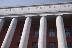 Weergeven van Post en Telegrafi-palazzo stock foto
