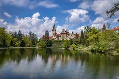 Weergeven van Pruhonice-Kasteel Tsjechische Republiek royalty-vrije stock foto
