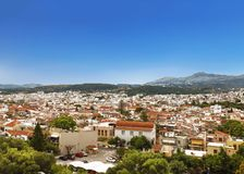 Weergeven van Rethymno van Fortezza, Kreta stock foto's
