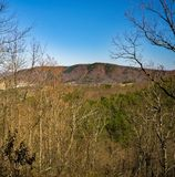 Weergeven van Roanoke-Berg van Buck Mountain Trail Loop royalty-vrije stock afbeelding