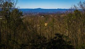 Weergeven van Roanoke-Vallei van Buck Mountain Loop Trail royalty-vrije stock foto