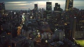 Weergeven van Tokyo Roppongi van de toren van Tokyo stock video