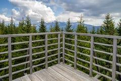 Weergeven van Vooruitzicht op heuvel Sunava, Slowakije royalty-vrije stock foto