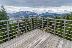Weergeven van Vooruitzicht op heuvel Sunava, Slowakije stock afbeeldingen