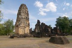 Weergeven van Wat Phrapai Luang in het Historische Park van Sukhothai royalty-vrije stock afbeelding
