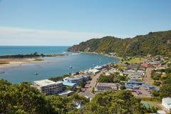 Weergeven van Whakatane in Nieuw Zeeland stock foto's