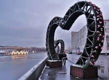 Weergeven van Zaryadye-park in Moskou, glasbrug stock foto's