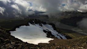 Weergeven vanaf de bovenkant van de berg in Skaftafell, IJsland royalty-vrije stock foto's