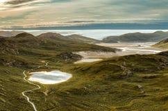 Weergeven vanaf een bovenkant van Sugarloaf-Berg, Kangerlussuaq, Groenland royalty-vrije stock fotografie