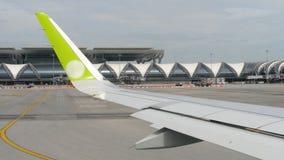 Weergevenluchthaven van Bangkok stock videobeelden
