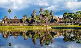Weerspiegeld beeld van Angkor Wat royalty-vrije stock fotografie