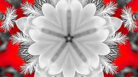 Weerspiegeld effect van een irisbloem stock illustratie