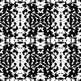 Weerspiegeld geometrisch patroon Herhaalbare zwart-wit samenvatting backg stock illustratie