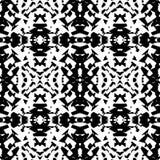 Weerspiegeld geometrisch patroon Herhaalbare zwart-wit samenvatting backg royalty-vrije illustratie