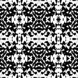 Weerspiegeld geometrisch patroon Herhaalbare zwart-wit samenvatting backg vector illustratie