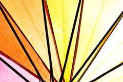 Weerspiegeld licht van kleur van paraplu. Royalty-vrije Stock Afbeelding