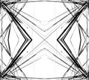 Weerspiegeld net, netwerk abstract geometrisch patroon/element vector illustratie