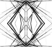 Weerspiegeld net, netwerk abstract geometrisch patroon/element stock illustratie