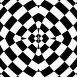 Weerspiegeld symmetrisch patroon Geometrische zwart-wit achtergrond T vector illustratie