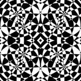 Weerspiegeld symmetrisch patroon Geometrische zwart-wit achtergrond T royalty-vrije illustratie