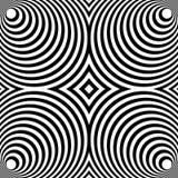 Weerspiegeld symmetrisch patroon met concentrische cirkels Abstract m vector illustratie