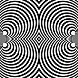 Weerspiegeld symmetrisch patroon met concentrische cirkels Abstract m royalty-vrije illustratie