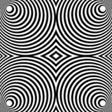 Weerspiegeld symmetrisch patroon met concentrische cirkels Abstract m stock illustratie