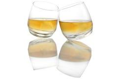 Weerspiegelde whisky royalty-vrije stock foto