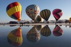 Weerspiegelende Ballons Stock Afbeelding