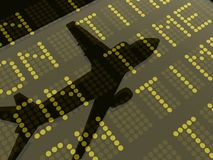 Weerspiegeling van een vliegtuig op vertrek en aankomst Royalty-vrije Stock Afbeelding