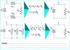 Weerstand biedende kringen vector illustratie