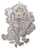 Weerwolf de jacht, die zijn tanden baring stock illustratie
