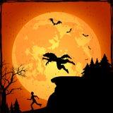 Weerwolf en lopende mens Stock Afbeelding