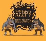 Weerwolf. Halloween-monster Stock Afbeeldingen