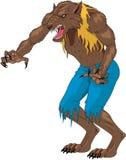Weerwolf vectorillustratie royalty-vrije illustratie