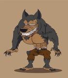 Weerwolf. Vectorillustratie Stock Fotografie