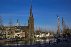 Weesp, Netherlands. View of the canal in Weesp, Netherlands Royalty Free Stock Photo