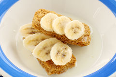 Weet Bix With Bananas Stock Photos
