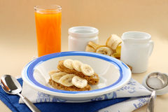 Weet Bix With Bananas Royalty Free Stock Photography
