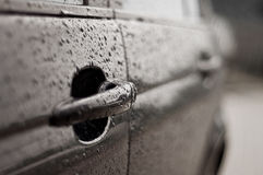 Weet car doors Royalty Free Stock Photography