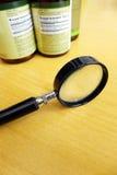 Weet wat uw supplementen bevatten Stock Afbeelding