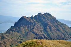 Wefie在Padar海岛印度尼西亚 库存照片