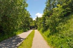 Weg in Aalborg Denemarken stock afbeeldingen