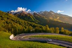 Weg aan Berg Olympisch Dorp, Sotchi Stock Afbeelding
