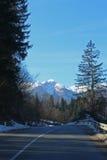 Weg aan bergen Royalty-vrije Stock Afbeelding