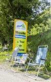 Weg aan Col. du Tourmalet - Ronde van Frankrijk 2014 Royalty-vrije Stock Foto's