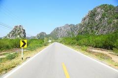 Weg aan de berg Stock Fotografie